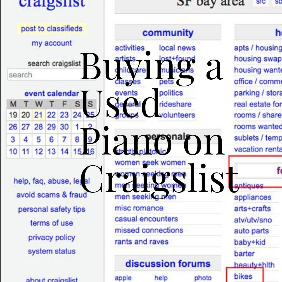 Buying a Used Piano on Craigslist